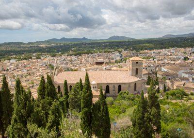 Arta - Blick auf die Kirche Transfiguració del Senyor Mallorca