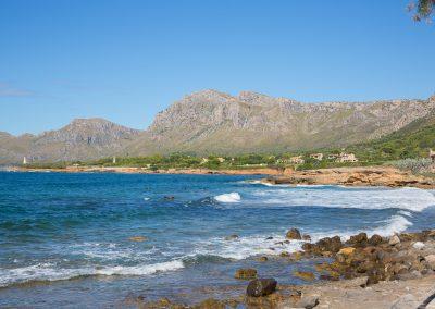 Colònia de Sant Pere - Blick aufs Meer und die Berge Mallorca