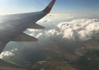 Kurz nach dem Start in Stuttgart Mallorca