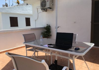 Mallorca - Meine Terrasse hinten in Playa de Muro
