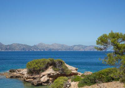 Mallorca Mirador de la Victoria - Badebucht auf dem Weg