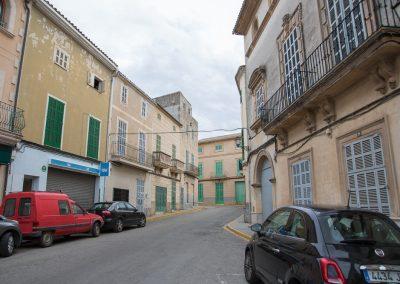 Santa Margalida - mein Fiat 500 rechts im Bild Mallorca