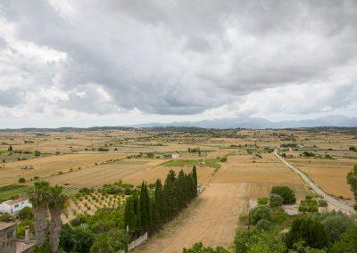 Santa Margalida - Blick von der Kirche aufs Umland Mallorca