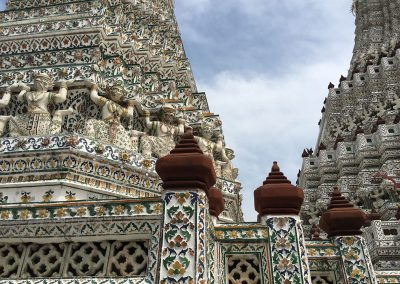 Bangkok - Wat Arun - Pagoda Detailansicht