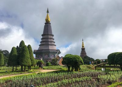 Chiang Mai - Doi Inthanon - King and Queen Pagodas