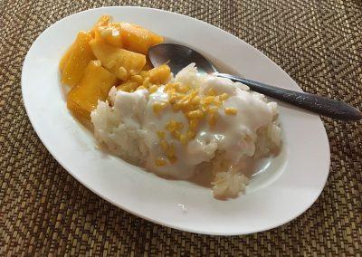 Chiang Mai - Kochkurs - Klebreis mit Mango als Dessert