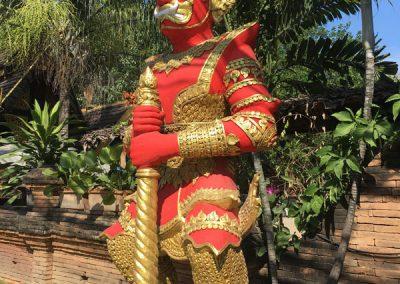 Chiang Mai - Wat Lok Molee - Wächter am Eingang