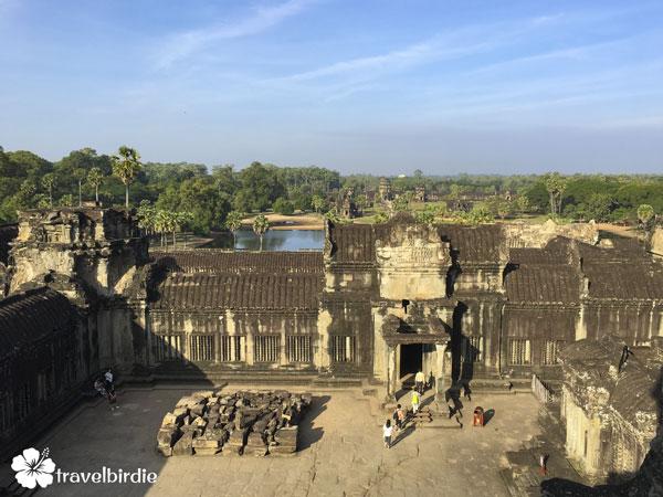 Siem Reap - Angkor Wat - Tempel Innenhof von oben