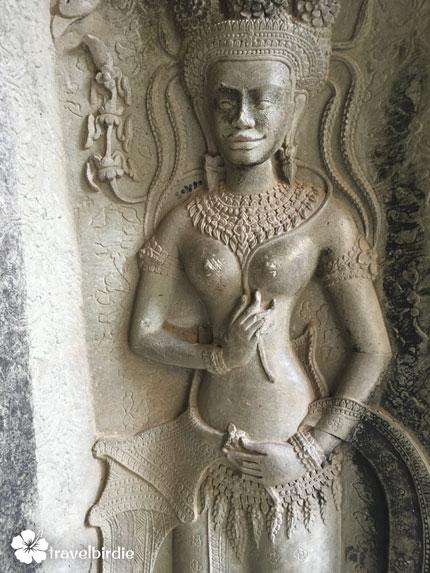Siem Reap - Angkor Wat - Skulptur Hindu-Göttin