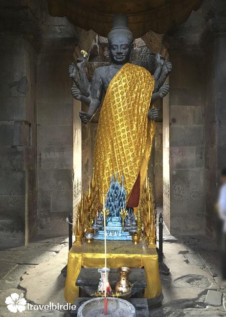 Siem Reap - Angkor Wat - Skulptur Siva