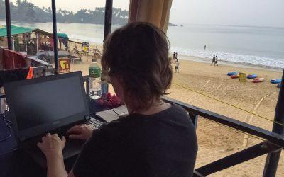 Digitale Nomadin Silke Vogel lebt das ortsunabhängige Arbeiten