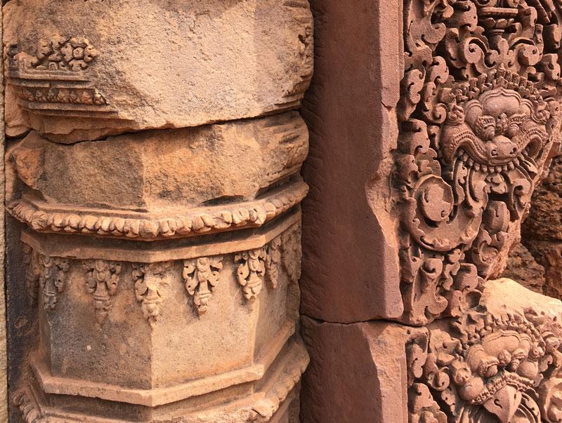 Angkor - Banteay Srei - filigrane Details