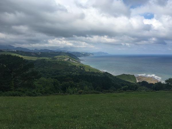 Camino del Norte - Zumaia nach Deba - Mittendrin in der Etappe, der Beginn der zweiten Alternativroute