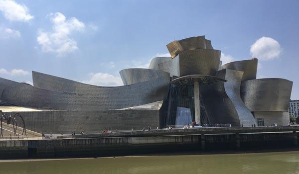 Camino del Norte - Bilbao Guggenheim Museum Rückseite