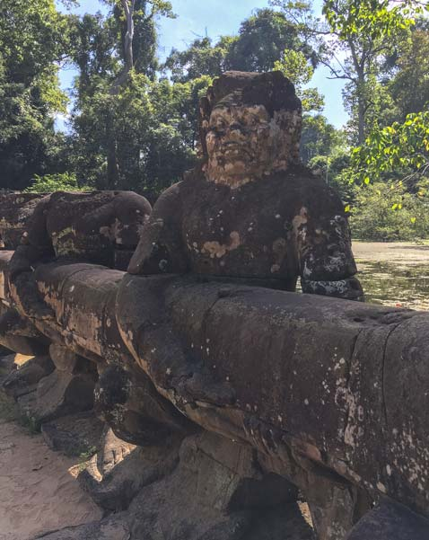 Siem Reap - Angkor - Preah Khan - Figur am Eingang