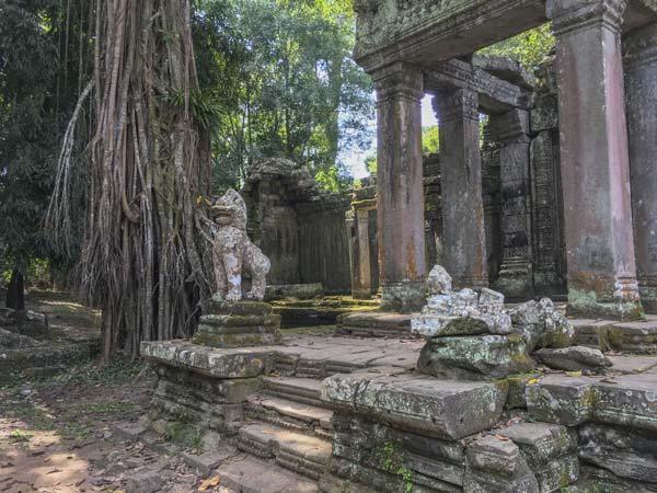 Siem Reap - Angkor - Preah Khan - Hinterausgang des Tempels