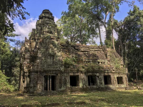 Siem Reap - Angkor - Preah Khan - Gebäude im hinteren Teil der Tempelanlage