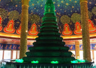 Wat Paknam Phasi Charoen - Pagoda innen