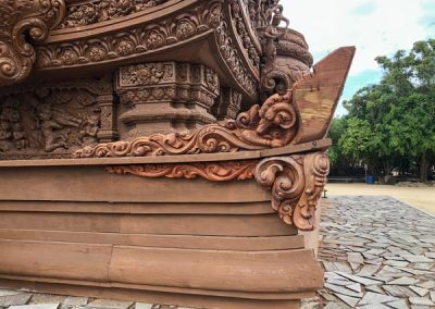 The Sanctuary of Truth Pattaya - Holzsockel