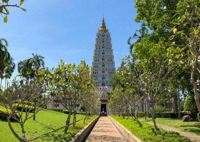 Wat Yannasangwararam - Bodhagaya Stupa Replica Eingang