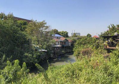 Ayutthaya - Häuser am Khlong Khao Mao