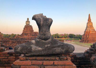 Ayutthaya - Wat Chai Watthanaram - Buddha-Statue
