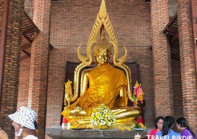 Ayutthaya - Wat Yai Chai Mongkol - Buddha-Statue