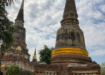 Ayutthaya - Wat Yai Chai Mongkol - zentraler Chedi