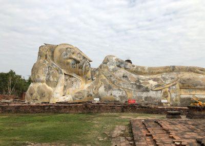 Ayutthaya Wat Lokayasutharam - The Reclining Buddha