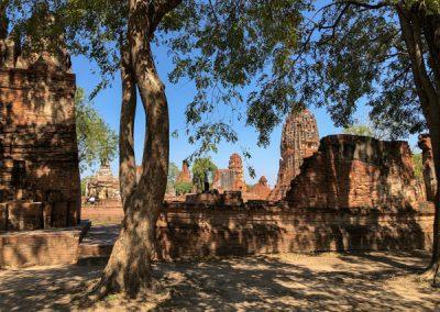 Ayutthaya Wat Mahathat - Ansicht von außen