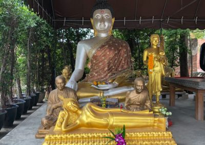 Ayutthaya Wat Phu Khao Thong - Buddha-Statue