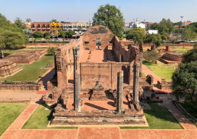 Ayutthaya Wat Ratchaburana - Phra Wihan von oben