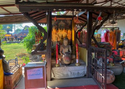 Ayutthaya Wat Thammikarat - Verkaufsstände