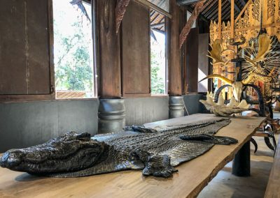 Chiang Rai Black House/Baandam - Krokodil