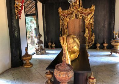 Chiang Rai Black House/Baandam - Innenraum eines der zahlreichen Gebäude