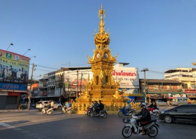 Chiang Rai Clock Tower bei Tag