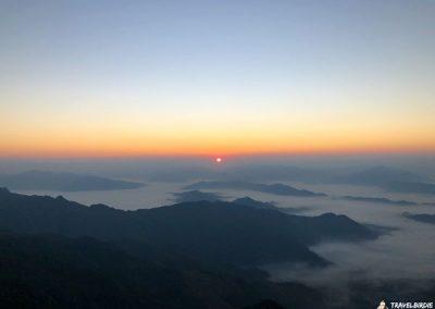 Phu Chi Fa - Die Sonne selbst ist das erste Mal zu sehen, 6:43 Uhr