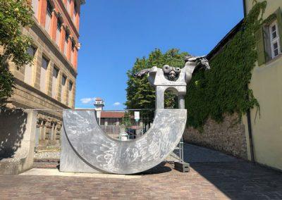 Bietigheim-Bissingen - Pferdeskulptur an der Hillerschule