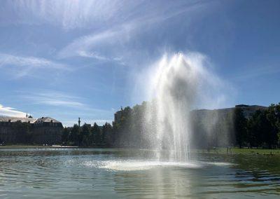 Bodenseeradtour - Oberer Schlossgarten in Stuttgart