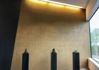 Goldene Wand im Feuerwehrhaus