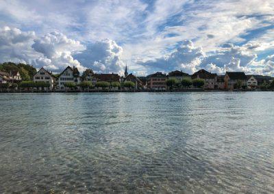 Rhein mit Blick auf Gottlieben/Schweiz