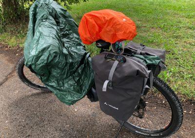 Regen auf der Radtour