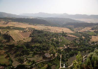 Blick von Ronda auf die Umgebung
