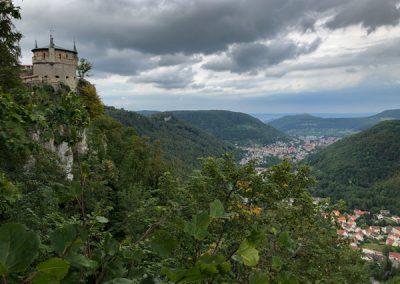 Blick auf Schloss Lichtenstein
