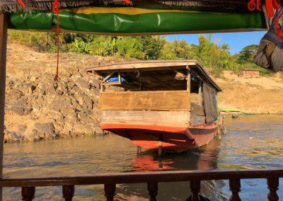 Ein Boot auf dem Mekong