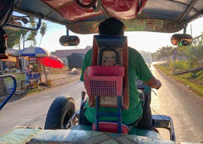 Mein Taxi vom Hafen zur Innenstadt Luang Prabangs