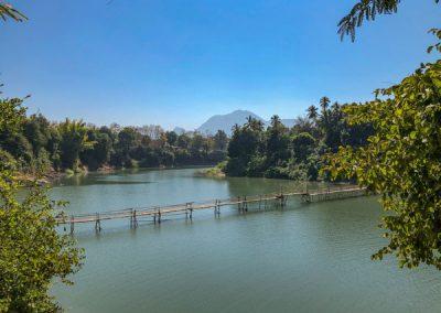 Bambusbrücke Luang Prabang: Blick von der anderen Seite