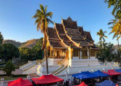 Haw Pha Bang in Luang Prabang in er Abendsonne