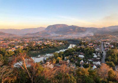 Blick auf Luang Prabang und den Nam Khan vom Phousi Hill