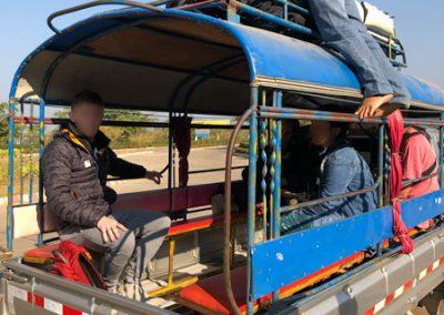 Taxi an der Grenze Huay Xai